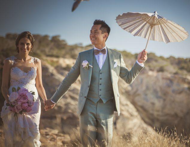 Ibiza pink wedding